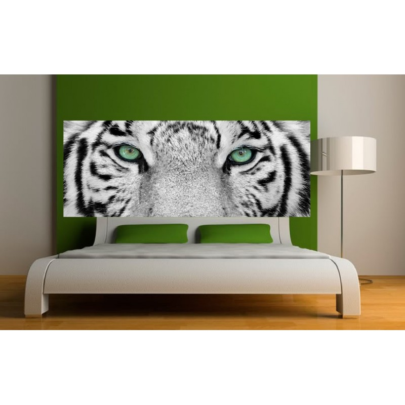 papier peint t te de lit tigre art d co stickers. Black Bedroom Furniture Sets. Home Design Ideas