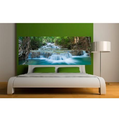 papier peint t te de lit chutes d 39 eau art d co stickers. Black Bedroom Furniture Sets. Home Design Ideas