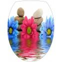 Sticker Abattant WC Fleurs et Galets