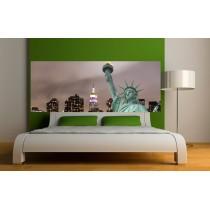 Papier peint tête de lit statue de la liberté