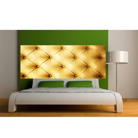 Papier peint t te de lit capiton or art d co stickers - Papier peint tete de lit ...