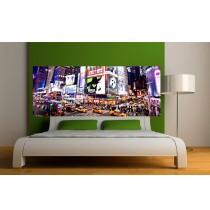 Papier peint tête de lit New-york la nuit