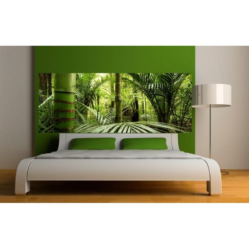 papier peint t te de lit verdure art d co stickers. Black Bedroom Furniture Sets. Home Design Ideas