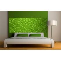Papier peint tête de lit Gouttes sur fond Vert