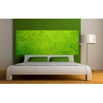 Papier peint tête de lit fond vert