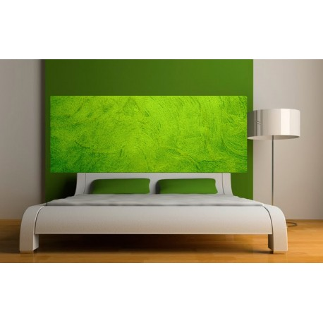 papier peint t te de lit fond vert art d co stickers. Black Bedroom Furniture Sets. Home Design Ideas