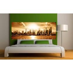 papier peint t te de lit new york la nuit art d co stickers. Black Bedroom Furniture Sets. Home Design Ideas
