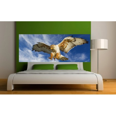 papier peint t te de lit aigle art d co stickers. Black Bedroom Furniture Sets. Home Design Ideas