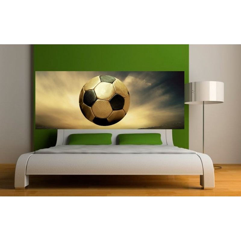 papier peint t te de lit ballon de foot art d co stickers. Black Bedroom Furniture Sets. Home Design Ideas