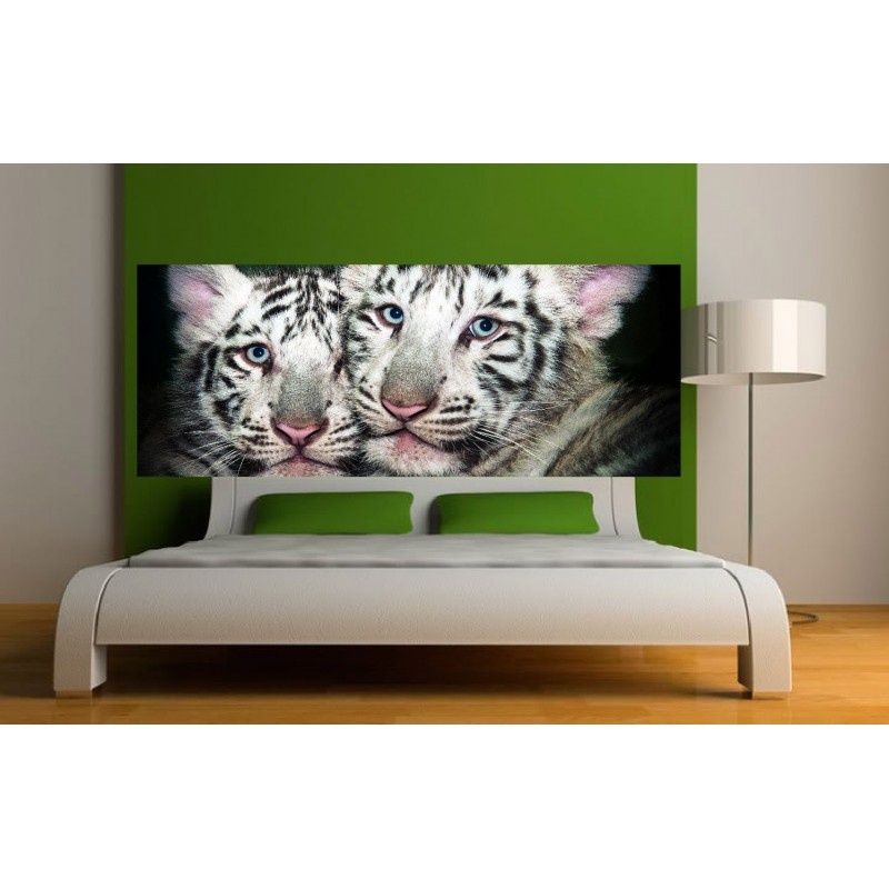 papier peint t te de lit b b tigre art d co stickers. Black Bedroom Furniture Sets. Home Design Ideas