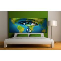 Papier peint tête de lit larme terrestre