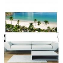 Papier peint panoramique Palmier et plage