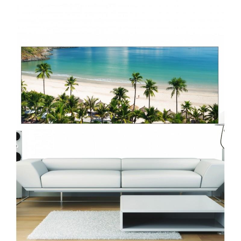 papier peint panoramique palmiers art d co stickers. Black Bedroom Furniture Sets. Home Design Ideas