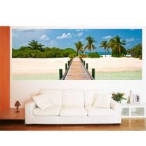 Papier peint panoramique ponton sur plage