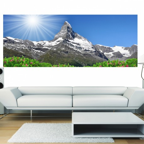 papier peint panoramique montagne art d co stickers. Black Bedroom Furniture Sets. Home Design Ideas