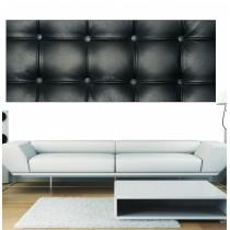 Papier peint panoramique Capitoné noir