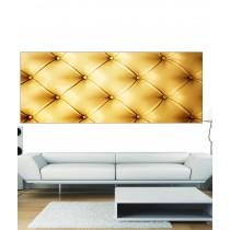Papier peint panoramique capitoné or
