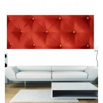 Papier peint panoramique capitoné rouge