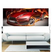 Papier peint panoramique voiture en feu