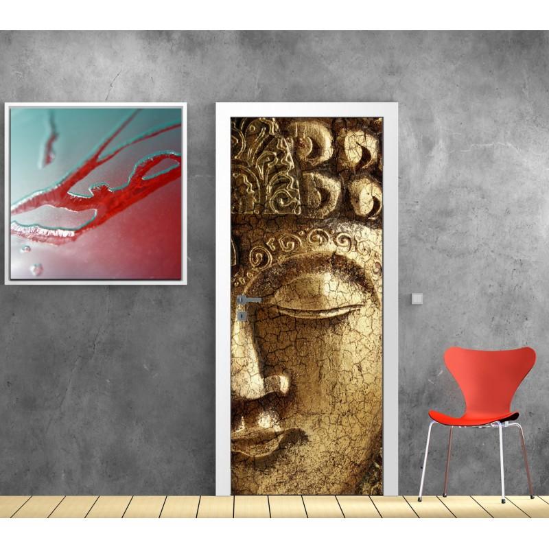 Papier peint porte d co bouddha art d co stickers - Papier peint art deco ...