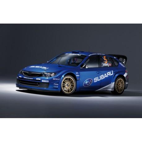 Affiche poster voiture Subaru WRC rallye