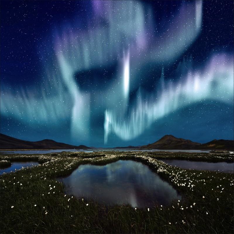 Papier peint géant déco ciel étoilé 250x250cm   Art Déco Stickers