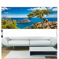 Stickers panoramique paysage vue sur la mer