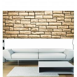 Stickers panoramique mur de pierre
