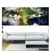 Stickers panoramique deco vue sur le monde