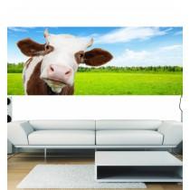Stickers panoramique deco vache dans le pré