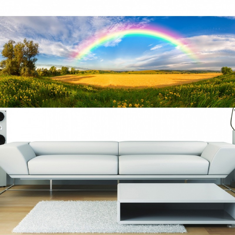 stickers panoramique deco arc en ciel art d co stickers. Black Bedroom Furniture Sets. Home Design Ideas