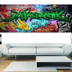 Stickers panoramique deco graffiti 2