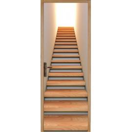 stickers pour porte plane Montée d'escalier