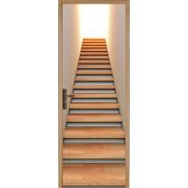 Sticker pour porte plane Montée d'escalier