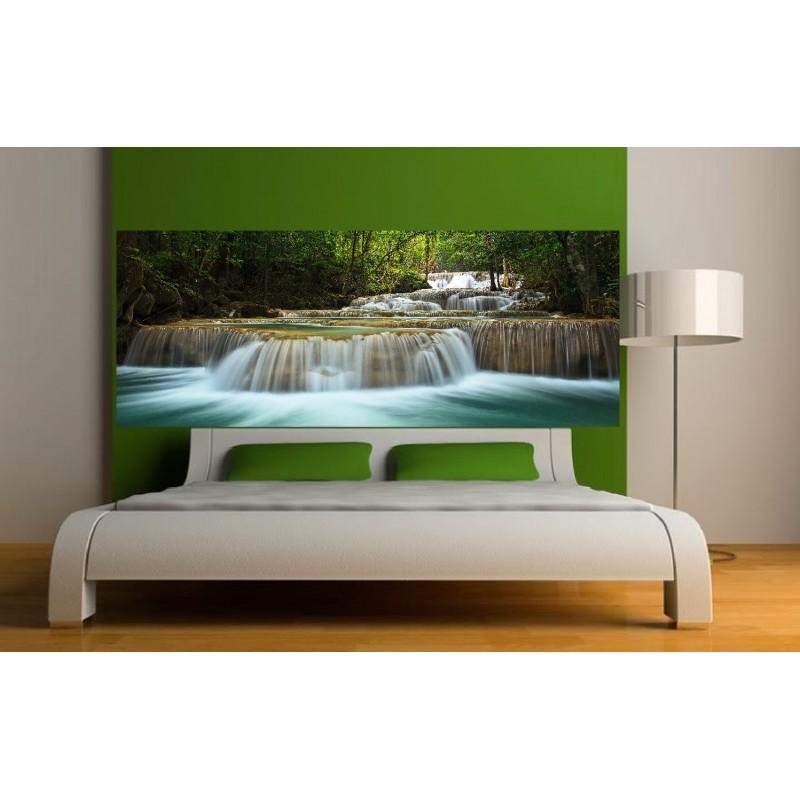 stickers t te de lit chute d 39 eau art d co stickers. Black Bedroom Furniture Sets. Home Design Ideas