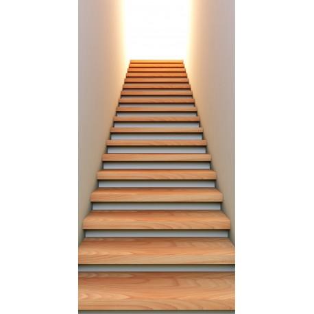 sticker mural trompe l 39 oeil mont e d 39 escalier art d co stickers. Black Bedroom Furniture Sets. Home Design Ideas