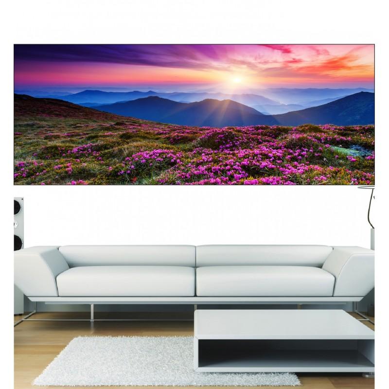 papier peint panoramique paysage fleuri art d co stickers. Black Bedroom Furniture Sets. Home Design Ideas