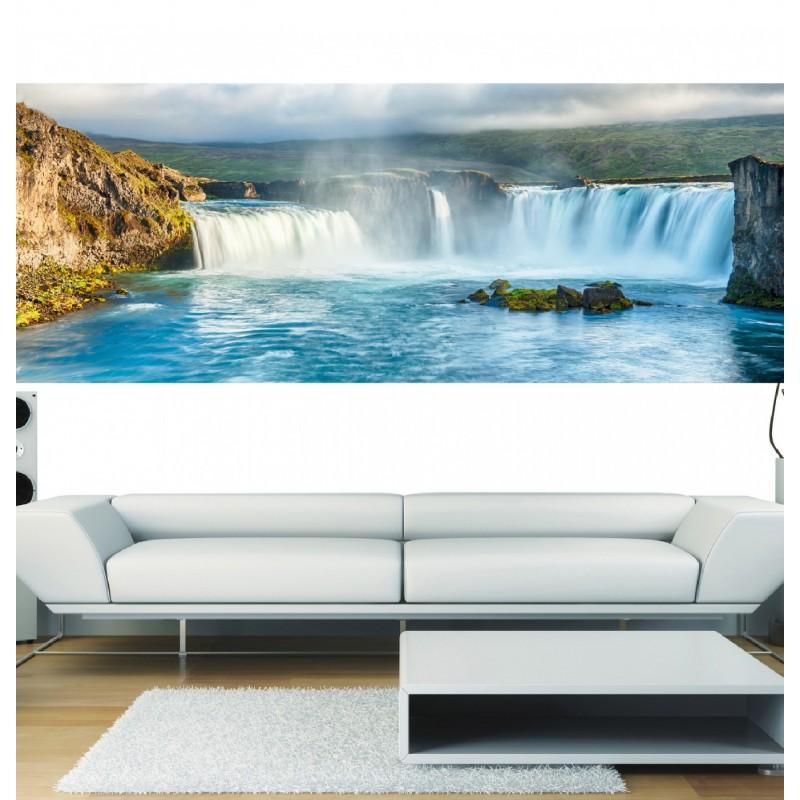 papier peint panoramique cascade art d co stickers. Black Bedroom Furniture Sets. Home Design Ideas