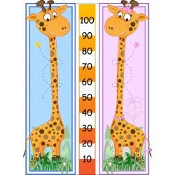 Sticker toise enfant mesure taille girafe