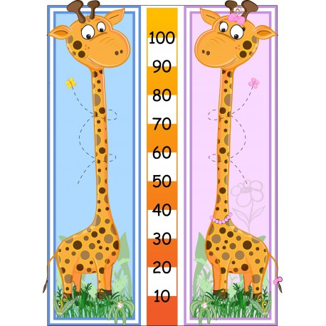 Sticker enfant mesure girafe