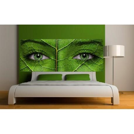 papier peint t te de lit dame nature art d co stickers. Black Bedroom Furniture Sets. Home Design Ideas
