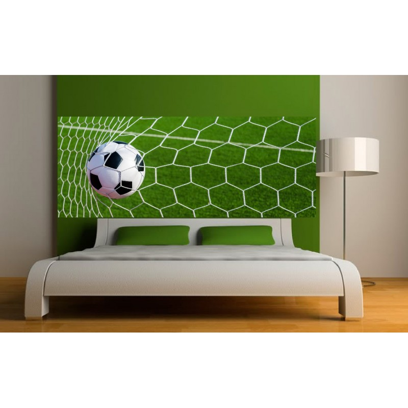 papier peint t te de lit filet de football art d co stickers. Black Bedroom Furniture Sets. Home Design Ideas