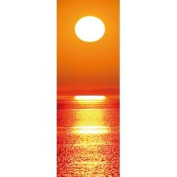 Sticker pour porte plane Couché de soleil