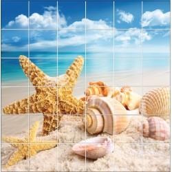 Stickers carrelage mural déco Etoile de mer