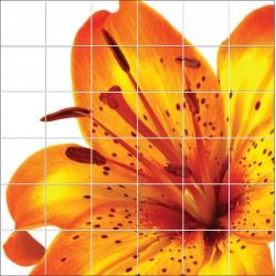 Stickers carrelage mural déco fleur