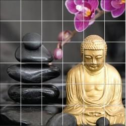 Stickers carrelage mural déco Buddha