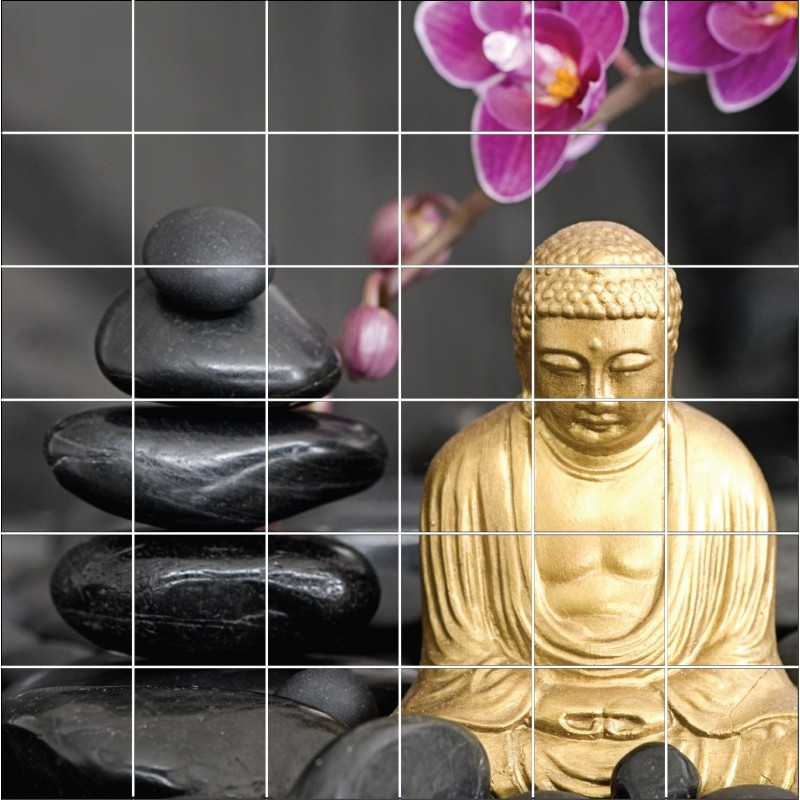 stickers carrelage mural d co buddha art d co stickers. Black Bedroom Furniture Sets. Home Design Ideas