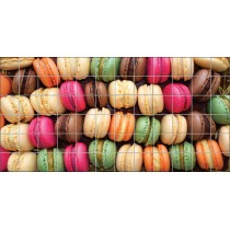 Stickers carrelage mural Macarons
