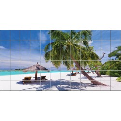 Stickers carrelage mural Plage