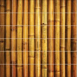Stickers carrelage mural déco Bambous